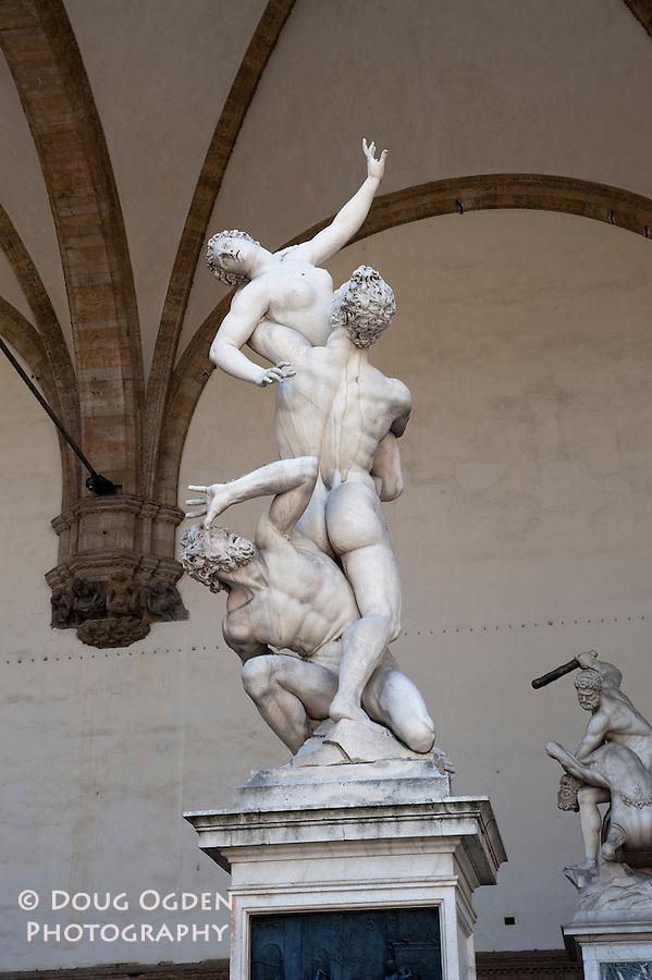 Abduction of the Sabine Women, Loggia dei Lanzi Terrace, Piazza della Signoria, Florence, Italy