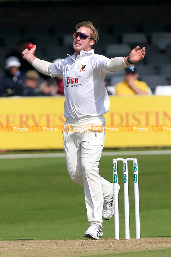 Simon Harmer in bowling action for Essex during Essex CCC vs Durham MCCU, English MCC University Match Cricket at The Cloudfm County Ground on 3rd April 2017