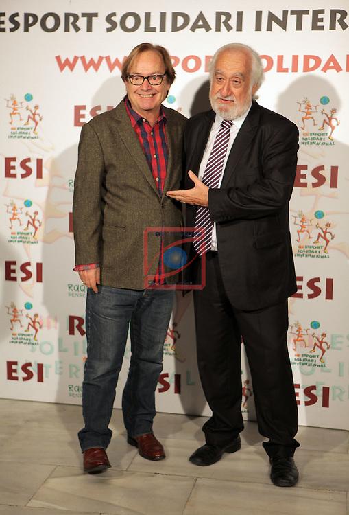 XIe Sopar Solidari d'ESI (Esport Solidari Internacional).<br /> Josep Maldonado &amp; Ventura Pons.