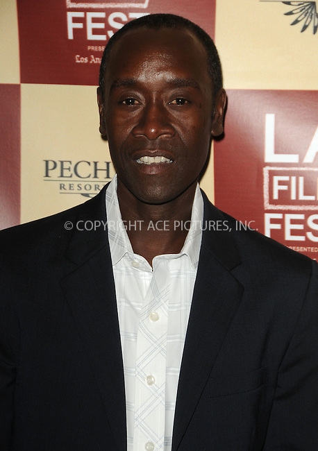 WWW.ACEPIXS.COM . . . . .  ....June 22 2011, Los Angeles....Actor Don Cheadle arriving at the Los Angeles Film Festival Premiere of 'The Guard' at the Regal Cinemas L. A. Live on June 22, 2011 in Los Angeles, California.....Please byline: PETER WEST - ACE PICTURES.... *** ***..Ace Pictures, Inc:  ..Philip Vaughan (212) 243-8787 or (646) 679 0430..e-mail: info@acepixs.com..web: http://www.acepixs.com