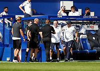 11th July 2020; The Kiyan Prince Foundation Stadium, London, England; English Championship Football, Queen Park Rangers versus Sheffield Wednesday; Queens Park Rangers Manager Mark Warburton congratulates Garry Monk of Sheffield Wednesday after full time from the dugout