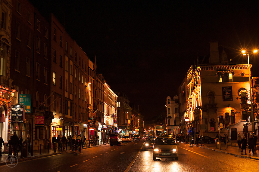 Dublin on a rainy night.