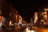 Dublin on a rainy night.