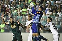 ATENÇÃO EDITOR: FOTO EMBARGADA PARA VEÍCULOS INTERNACIONAIS BARUERI,SP,22 JANEIRO 2013 - COPA SÃO PAULO JUNIORES - PALMEIRAS x SANTOS -Walter  goleiro  do Palmeiras  durante partida Palmeiras x Santos  válido pela semi finals da Copa São Paulo Juniores no Estádio Arena Barueri na noite desta terça - feira.(FOTO: ALE VIANNA -BRAZIL PHOTO PRESS).