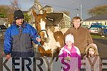 Tommy Clifford Tralee, Violet Clarke Castlemaine, Molly and Katlyn Barton Tralee at the horse fair in Killorglin on Saturday..