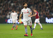 4th February 2019, London Stadium, London, England; EPL Premier League football, West Ham United versus Liverpool; Mohamed Salah of Liverpool reacts after his shot on goal is saved by Goalkeeper Lukasz Fabianski of West Ham United