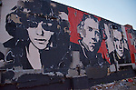 """Shepard Fairey covered Asbury Park with his album cover art as part of the All Tomorrow's Parties (ATP) I'll Be Your Mirror Music Festival 2011. The show, """"Revolutions: The Album Cover Art of Shepard Fairey,"""" utilized walls in and around the famed Jersey shore music mecca."""