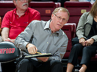 STANFORD, CA - September 2, 2010: Head Coach John Dunning during a volleyball match against UC Irvine in Stanford, California. Stanford won 3-0.