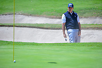 Phil Mickelson (USA) reacts to his shot from the trap on 1 during round 4 of the World Golf Championships, Mexico, Club De Golf Chapultepec, Mexico City, Mexico. 3/5/2017.<br /> Picture: Golffile | Ken Murray<br /> <br /> <br /> All photo usage must carry mandatory copyright credit (&copy; Golffile | Ken Murray)