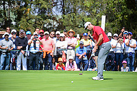 Jon Rahm (ESP) watches his putt on 4 during round 4 of the World Golf Championships, Mexico, Club De Golf Chapultepec, Mexico City, Mexico. 3/5/2017.<br /> Picture: Golffile | Ken Murray<br /> <br /> <br /> All photo usage must carry mandatory copyright credit (&copy; Golffile | Ken Murray)