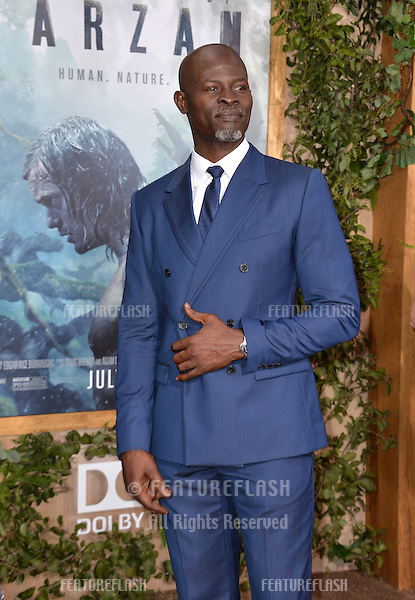 LOS ANGELES, CA. June 27, 2016: Actor Djimon Hounsou at the world premiere of &quot;The Legend of Tarzan&quot; at the Dolby Theatre, Hollywood.<br /> Picture: Paul Smith / Featureflash