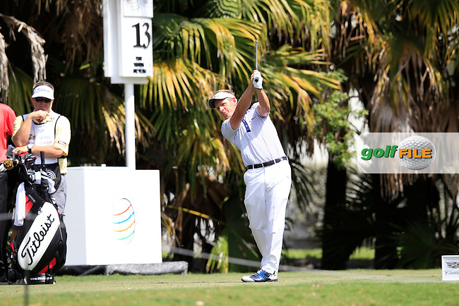 Luke Donald (ENG) during the 1st round at the WGC Cadillac Championship, Blue Monster, Trump National Doral, Doral, Florida, USA<br /> Picture: Fran Caffrey / Golffile