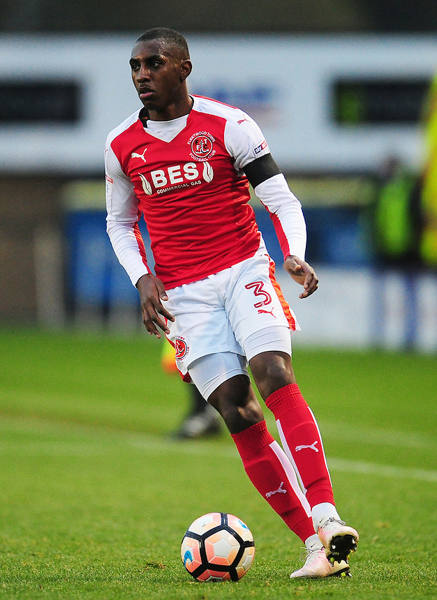 Fleetwood Town's Amari'i Bell<br /> <br /> Photographer Kevin Barnes/CameraSport<br /> <br /> The Emirates FA Cup Second Round - Shrewsbury Town v Fleetwood Town - Saturday 3rd December 2016 - Greenhous Meadow - Shrewsbury <br />  <br /> World Copyright &copy; 2016 CameraSport. All rights reserved. 43 Linden Ave. Countesthorpe. Leicester. England. LE8 5PG - Tel: +44 (0) 116 277 4147 - admin@camerasport.com - www.camerasport.com