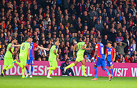 Liverpool players celebrate Emre Can's 2nd goal during the EPL - Premier League match between Crystal Palace and Liverpool at Selhurst Park, London, England on 29 October 2016. Photo by Steve McCarthy.