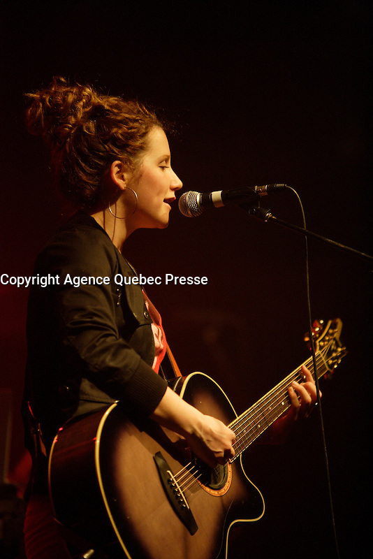 March 2009 File Photo - Montreal, Quebec, CANADA - Amylie in concert