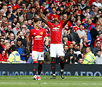Paul Pogba of Manchester United celebrates scoring the second goal during the English Premier League match at the Old Trafford Stadium, Manchester. Picture date: May 21st 2017. Pic credit should read: Simon Bellis/Sportimage