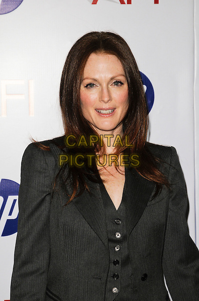 JULIANNE MOORE .At the 10th Annual AFI Awards at the Four Seasons Hotel in Los Angeles, California, USA, January 15th, 2010..arrivals portrait headshot suit waistcoat grey gray jacket .CAP/ROT.©Lee Roth/Capital Pictures.
