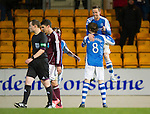 St Johnstone v Hearts..15.12.12      SPL.Steven MacLean celebrates his goal with Murray Davidson.Picture by Graeme Hart..Copyright Perthshire Picture Agency.Tel: 01738 623350  Mobile: 07990 594431