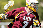 Orange, CA 05/02/10 - Tyler Westfall (ASU # 7) in action during the Chapman-Arizona State MCLA SLC Division I final at Wilson Field on Chapman University's campus.  Arizona State defeated Chapman 13-12 in overtime.