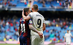 SD Eibar's Ruben Peña and Real Madrid CF's Karim Benzema during La Liga match. April 06, 2019. (ALTERPHOTOS/Manu R.B.)