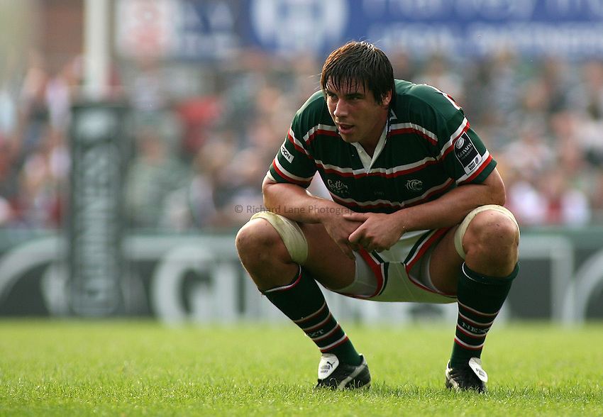 Photo: Paul Thomas..Leicester Tigers v Gloucester Rugby. Guinness Premiership. 16/09/2006...James Hamilton of Leicester.
