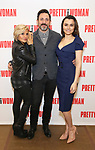Orfeh, Steve Kazee and Samantha Barks attends the photo call for the New Broadway Bound Musical 'Pretty Woman' on January 22, 2018 at the New 42nd Street Studios in New York City.
