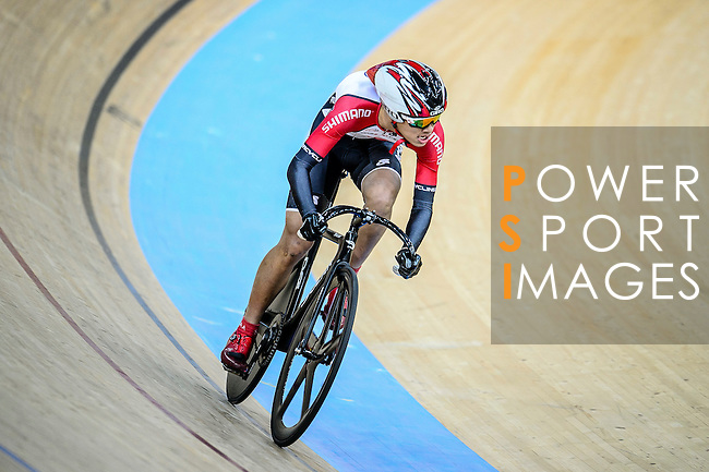 Fong Cheuk Shan of team SCAA during the Team Sprint Open Qualifying Track Cycling Race 2016-17 Series 3 at the Hong Kong Velodrome on February 4, 2017 in Hong Kong, China. Photo by Marcio Rodrigo Machado / Power Sport Images