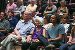 Family members listen to a ceremony honoring the late Marilee Swirczek at Western Nevada College in Carson City, Nev., on Thursday, July 28, 2016. <br />