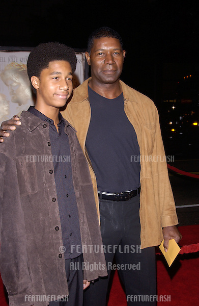Nov 16, 2004; Los Angeles, CA: Actor DENNIS HAYSBERT & son at the world premiere, in Hollywood, of Alexander..