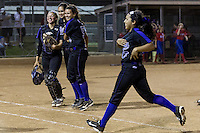 Cedar Ridge softball team celebrates their 2-0 win over Westlake in the Bi-District Playoffs held at Noack Field in Austin.  (LOURDES M SHOAF for Round Rock Leader.)