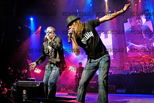 Guns n' Roses - Axl Rose and Kid Rock - performing live at the Hammerstein Ballroom in New York USA - 17 May 2006.  Photo credit: George Chin/IconicPix