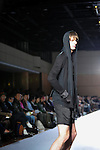 October 17, 2012, Tokyo, Japan - A model poses on the catwalk wearing ''ato'' during Mercedes-Benz Fashion Week Tokyo 2013 Spring/Summer. The Mercedes-Benz Fashion Week Tokyo runs from October 13-20. (Photo by Yumeto Yamazaki/AFLO)