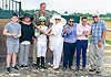 The happy group after Lady Haha won The Delaware Park Arabian Oaks (grade II) at Delaware Park on 8/6/16