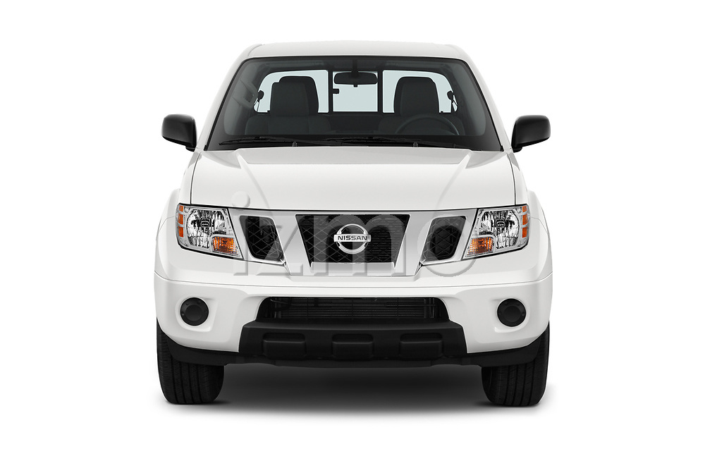 Car photography straight front view of a 2019 Nissan Frontier SV 4 Door Pick Up