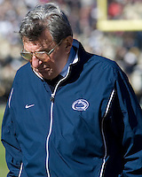 28 October 2006: Joe Paterno..The Penn State Nittany Lions defeated the Purdue Boilermakers 12-0 on October 28, 2006 at West Lafeyette, Indiana.