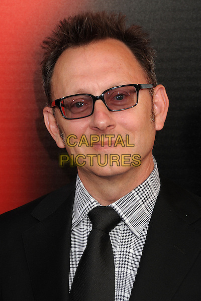 Michael Emerson<br /> &quot;True Blood&quot; Season 6 Los Angeles Premiere held at The Cinerama Dome, Hollywood, California, USA.<br /> June 11th, 2013<br /> headshot portrait black suit check black white shirt  tinted glasses  <br /> CAP/ADM/BP<br /> &copy;Byron Purvis/AdMedia/Capital Pictures