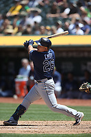 OAKLAND, CA - JUNE 22:  Ji-Man Choi #26 of the Tampa Bay Rays bats against the Oakland Athletics during the game at the Oakland Coliseum on Saturday, June 22, 2019 in Oakland, California. (Photo by Brad Mangin)