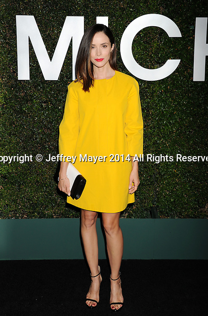 BEVERLY HILLS, CA- OCTOBER 02: Actress Abigail Spencer arrives at the Michael Kors Hosts Launch Of Claiborne Swanson Frank's 'Young Hollywood' Portrait Book at a private residence on October 2, 2014 in Beverly Hills, California.