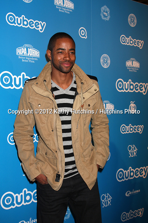 LOS ANGELES - OCT 20:  Jay Ellis arrives at  the Qubeeys Chris Brown Channel Launch Event at Private Residence on October 20, 2012 in Beverly Hills, CA