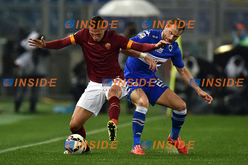Jose Holebas Roma, Lorenzo De Silvestri Sampdoria <br /> Roma 16-03-2015 Stadio Olimpico Football Calcio Serie A 2014/2015 AS Roma - Sampdoria . Foto Andrea Staccioli / Insidefoto