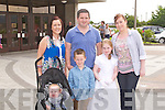 CORPUS CHRISTI: Taking part in the St Brendan's Church Corpus Christi Procession on Sunday l-r: Katie Ryan, Robin Sheridan, Tommy Sheridan, Sean Whealan, Alexandra Sheridan and Sharon O'Sullivan.