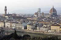 Veduta di Firenze al tramonto da Piazzale Michelangelo.<br /> View of Florence at sunset from Piazzale Michelangelo.<br /> UPDATE IMAGES PRESS/Riccardo De Luca