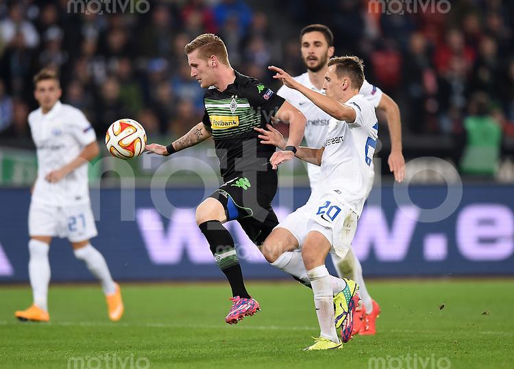 FUSSBALL   INTERNATIONAL   UEFA EUROPA LEAGUE   SAISON 2014/2015 FC Zuerich - VfL Borussia Moenchengladbach    02.10.2014 Andre Hahn (li, Borussia Moenchengladbach) am Ball gegen Burim Kukeli (re, FC Zuerich)