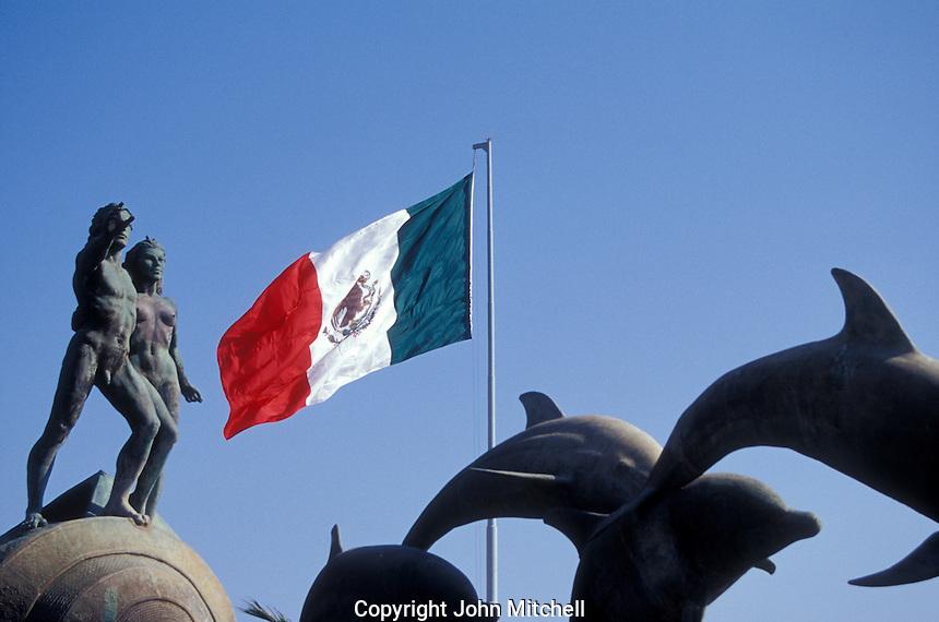 The Monumento a la Continuiadad de la Vida in Mazatlan, Sinaloa, Mexico