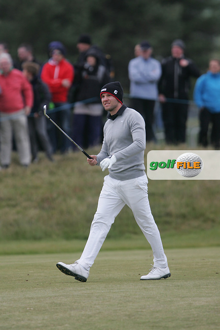 Maximilian KIEFFER (GER) on the 18th during round 3 of the 2015 Dubai Duty Free Irish Open hosted by the Rory Foundation, Royal County Down Golf Club, Newcastle Co Down, Northern Ireland. 30/05/2015<br /> Picture TJ Caffrey, www.golffile.ie