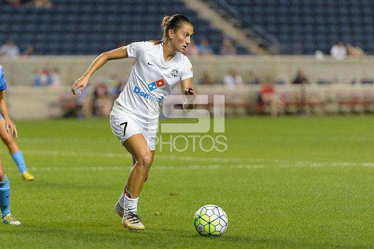 Chicago, IL - Wednesday Sept. 07, 2016: Mandy Laddish during a regular season National Women's Soccer League (NWSL) match between the Chicago Red Stars and FC Kansas City at Toyota Park.