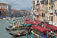 Michael McCollum.6/10/11.Gondolas and other traffic he Grand Canal in Venice, Italy.