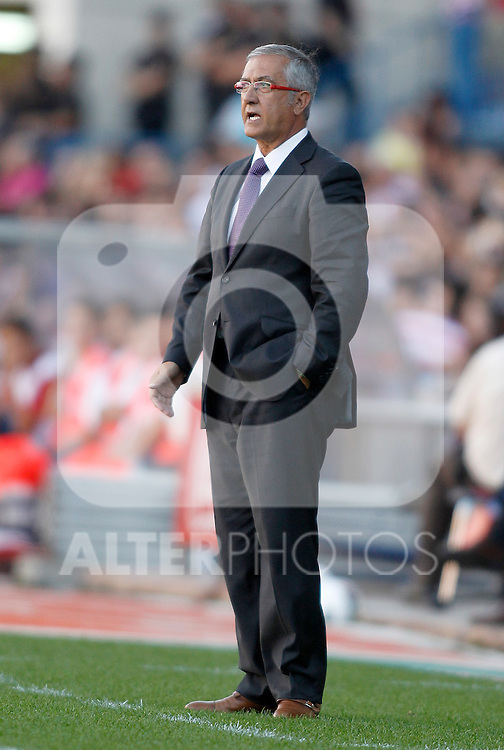 Atletico de Madrid's Gregorio Manzano during La Liga Match. September 18, 2011. (ALTERPHOTOS/Alvaro Hernandez)
