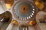 Jerusalem, Israel, The ceiling of The Russian Orthodox Church of the Ascension on the Mount of Olives was built between 1870 and 1887, interior<br />