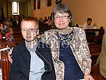 Joe Sayers who was confirmed in the Church of the Immaculate Conception Termonfeckin pictured with sponsor and aunt . Photo:Mary Sayers. Colin Bell/pressphotos.ie